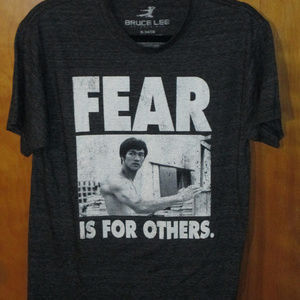Bruce Lee Fear is for Others Dark Gray Shirt S